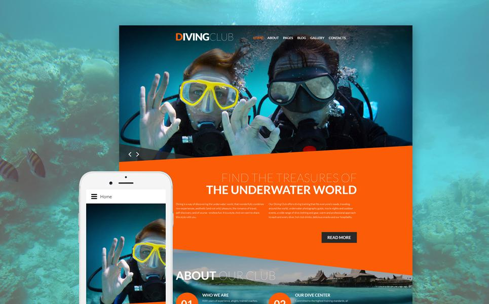 Diving Responsive Joomla Template TMT