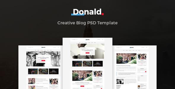 Donald - Creative Blog PSD Template            TFx