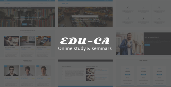 Educa - Responsive Educational Template            TFx