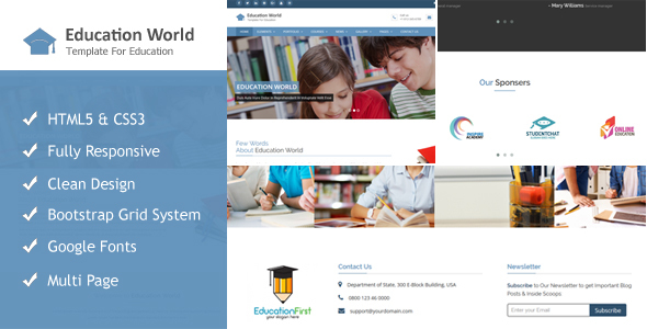 Education World Responsive Html Template            TFx