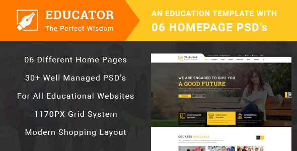 Educator - Education Multipurpose PSD Template            TFx