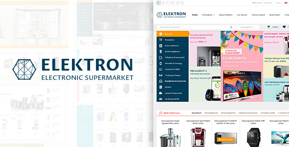 Elektron - Multi-Purposes Electronics PSD Template            TFx