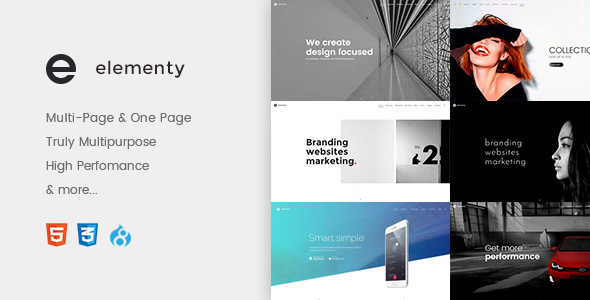 Elementy - Multipurpose One & Multi Page Drupal 8 Theme            TFx
