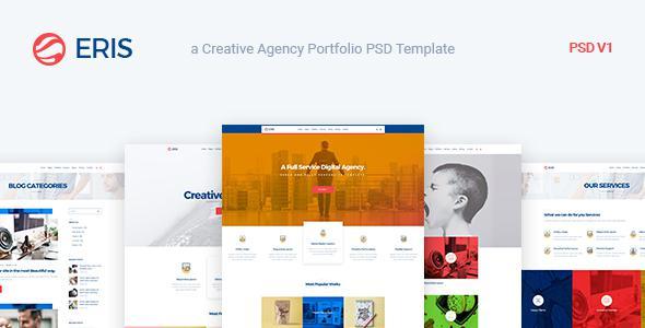 Eris - Design Studio Marketing Agency PSD Template            TFx