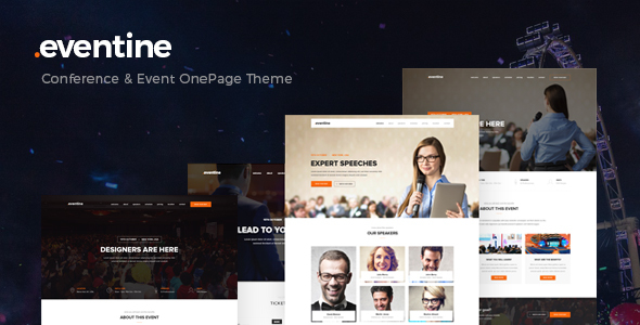 Eventine - Conference and Event OnePage WordPress Theme            TFx