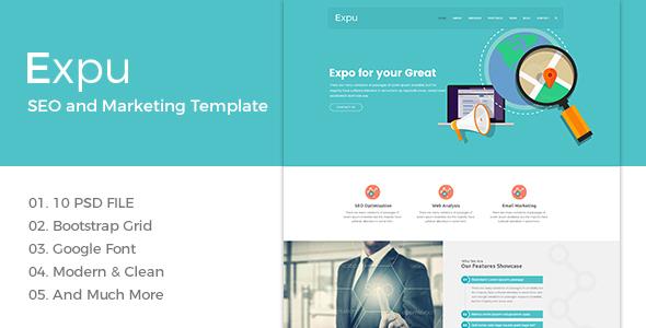 Expu-SEO and Marketing PSD Template            TFx