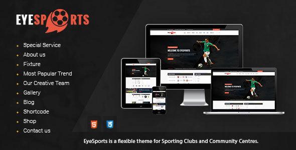 Eye Sports - Fixtures and Sports WordPress Theme            TFx