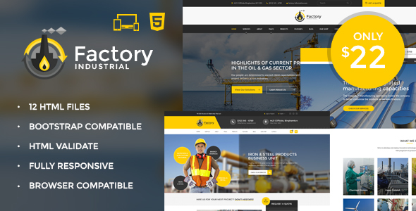 Factory Industrial - Engineering & Industrial HTML5 Template            TFx