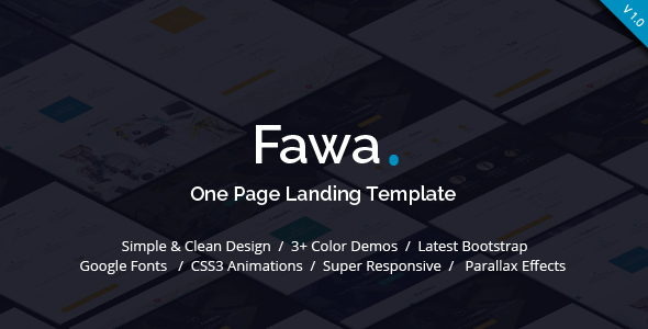 Fawa - One Page Landing Template            TFx