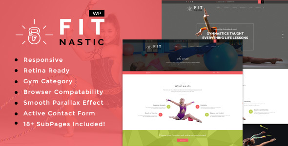 Fitnastic | Sports, Health, Gym & Fitness WordPress Theme            TFx