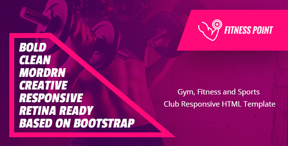 Fitness Point - Gym, Fitness and Sports  Club Responsive HTML Template            TFx