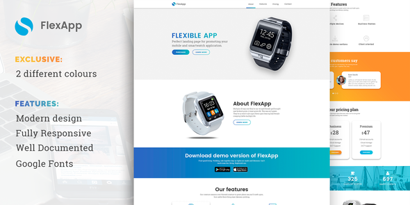 FlexApp - Creative Multipurpose App Landing Page            TFx