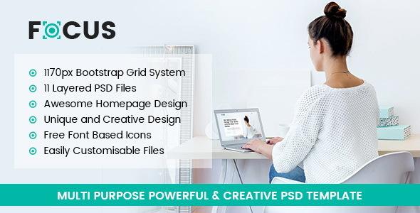 Focus - Multipurpose PSD Template            TFx