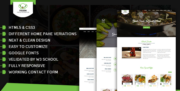FoodCafe / HTML5 Template            TFx
