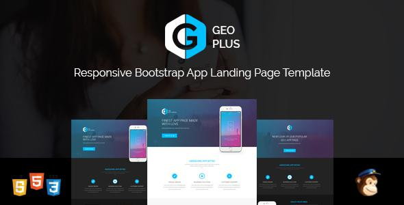 GEO PLUS - Responsive App Landing Page Template | Bootstrap 3 and HTML5 Landing Page            TFx