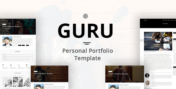GURU - Personal Portfolio Template            TFx