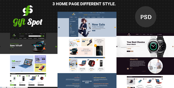 GiftShope Commerce PSD Template            TFx