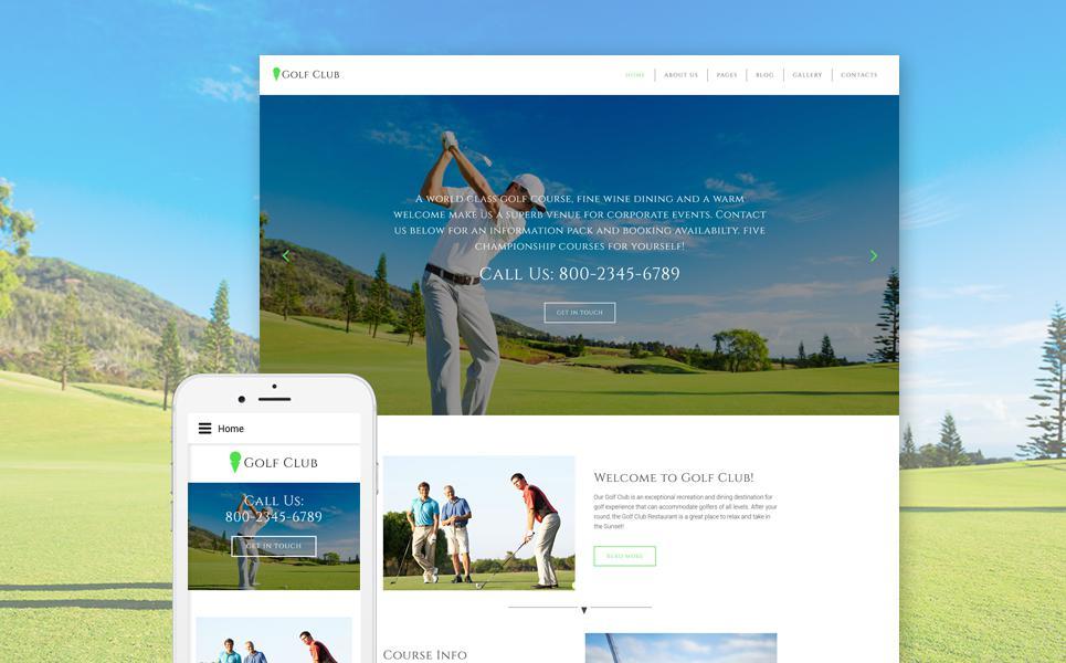 Golf Responsive Joomla Template TMT