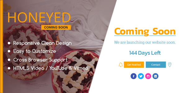 HONEYED - Simple Vimeo & YouTube Video Background Page            TFx