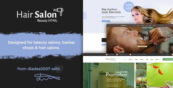 Hair Salon - Beauty PSD Template            TFx