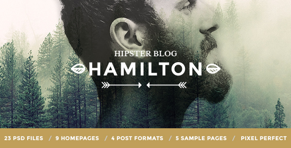 Hamilton - Hipster Blog PSD Template            TFx