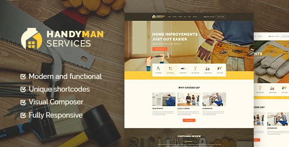 Handyman | Construction | Repair Services WordPress Theme            TFx
