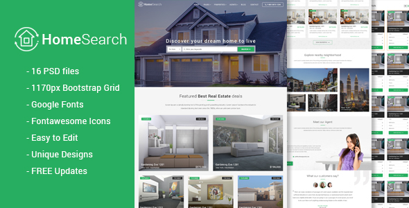 HomeSearch - A RealEstate PSD template            TFx