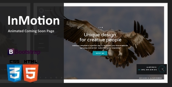 InMotion - Animated Coming Soon Template            TFx
