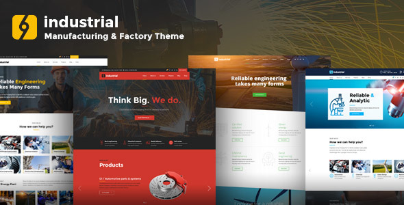 Industrial - Manufacturing & Factory WordPress Theme            TFx