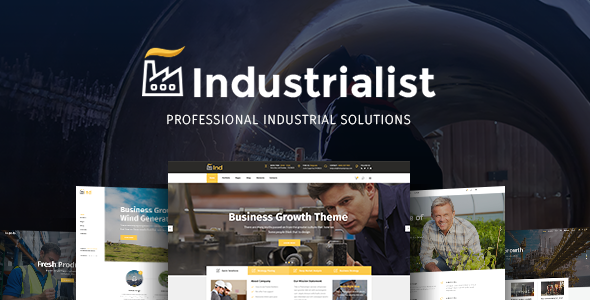 Industrialist - An Expert Theme for Industry & Manufacturing Businesses            TFx