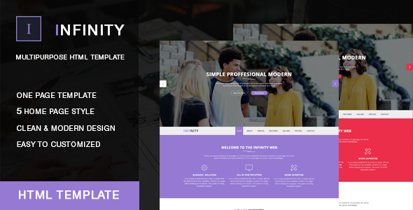 Infinity Onepage HTML Template            TFx