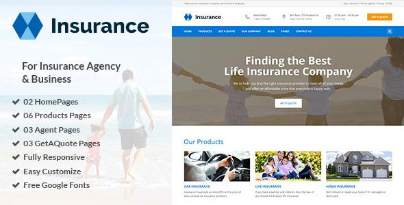 Insurance - Insurance Agency & Business PSD Template            TFx