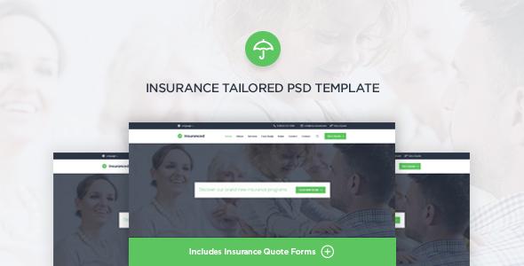 Insuranced - Insurance PSD Template            TFx