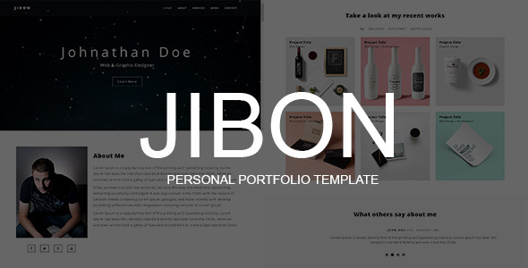 JIBON - Personal Portfolio Template            TFx