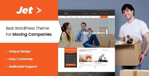 Jet - Home Moving Services WordPress Theme            TFx