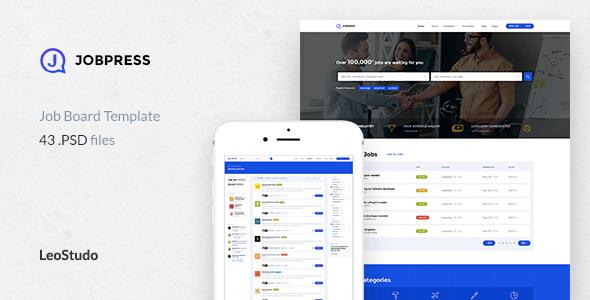 Job Board PSD Template   JobPress            TFx