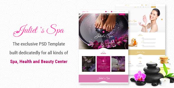 Juliet's Spa – PSD Template            TFx