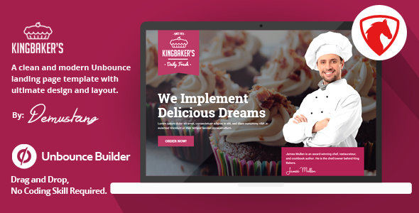 King Baker's - Unbounce Landing Page Template            TFx