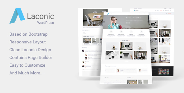Laconic - Modern Business/Corporate WordPress Theme            TFx
