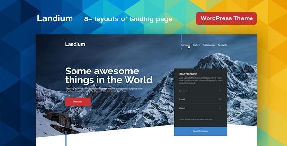 Landium - App & Landing Page WordPress Theme Pack            TFx