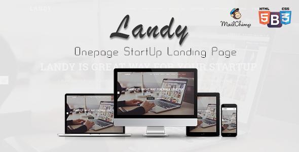 Landy - Onepage Startup Landing Page            TFx