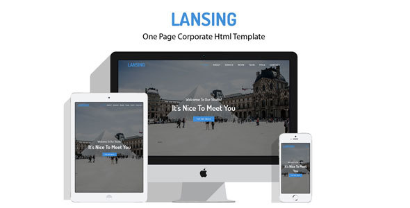 Lansing - One Page Corporate Html Template            TFx