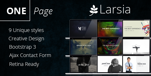 Larsia Gold - OnePage Personal & Resume Template            TFx