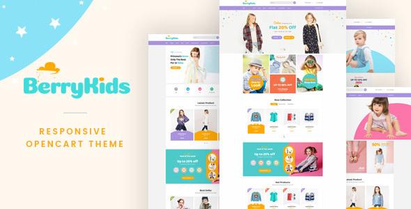 Lexus Berrykid - Kid shop Opencart theme            TFx
