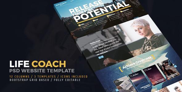 Life Coach PSD Website Template            TFx