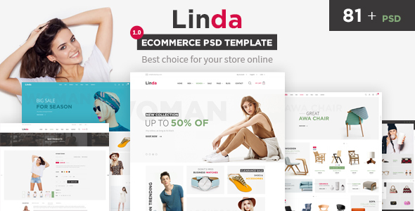 Linda - Mutilpurpose eCommerce PSD Template            TFx