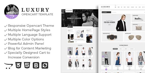 Luxury - Responsive Opencart Theme            TFx