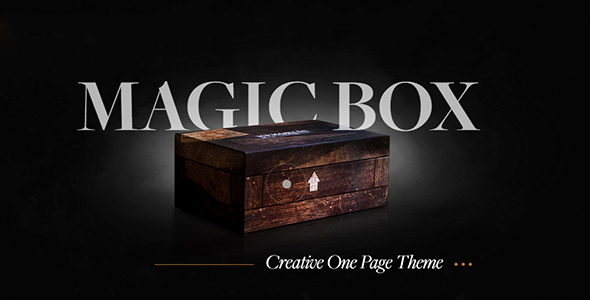 Magic Box - Creative HTML5 One Page Template            TFx