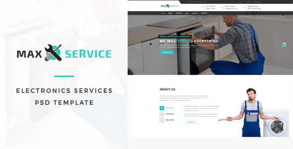 Max - Electronic Services PSD Template            TFx