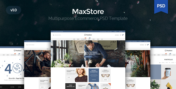 MaxShop - Kute PSD Template            TFx